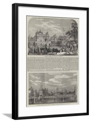 Holy Tank and Temple of the Sikhs-William Carpenter-Framed Art Print