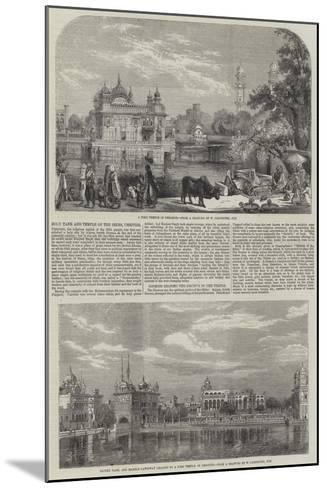 Holy Tank and Temple of the Sikhs-William Carpenter-Mounted Giclee Print
