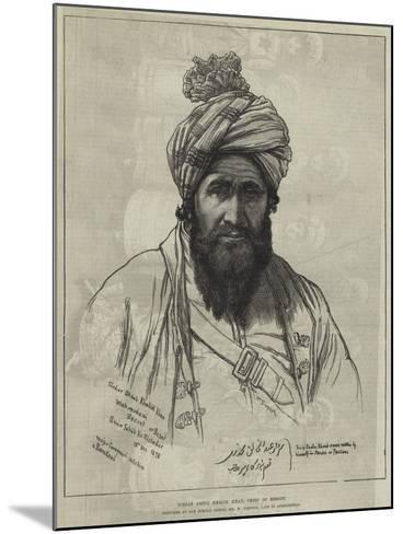 Sirdar Abdul Khalik Khan, Chief of Bezoot-William 'Crimea' Simpson-Mounted Giclee Print