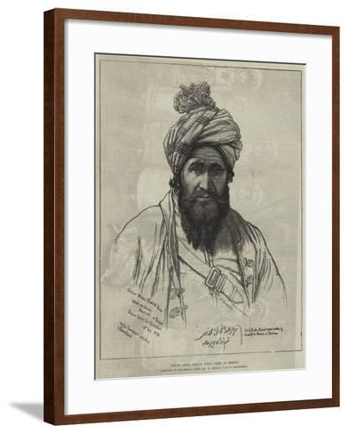 Sirdar Abdul Khalik Khan, Chief of Bezoot-William 'Crimea' Simpson-Framed Art Print