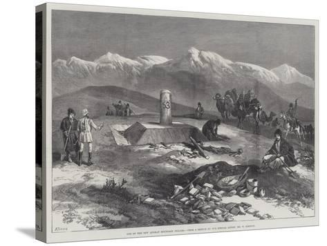 One of the New Afghan Boundary Pillars-William 'Crimea' Simpson-Stretched Canvas Print