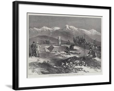 One of the New Afghan Boundary Pillars-William 'Crimea' Simpson-Framed Art Print
