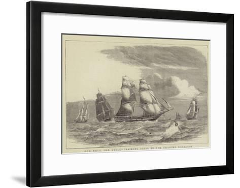 Our Navy, Old Style, Training Brigs of the Channel Squadron-William Edward Atkins-Framed Art Print