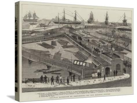 Railway Extension at Portsmouth, the New Harbour Station-William Edward Atkins-Stretched Canvas Print