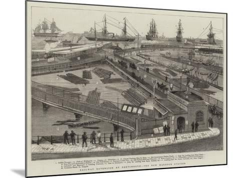 Railway Extension at Portsmouth, the New Harbour Station-William Edward Atkins-Mounted Giclee Print