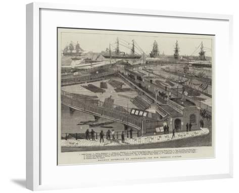 Railway Extension at Portsmouth, the New Harbour Station-William Edward Atkins-Framed Art Print