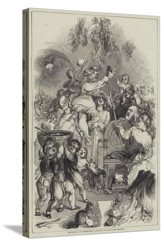 Bringing in Christmas-William Harvey-Stretched Canvas Print