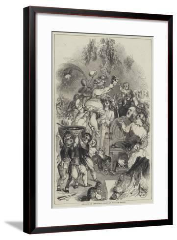 Bringing in Christmas-William Harvey-Framed Art Print