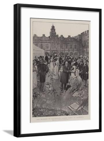 The Marquis of Salisbury's Garden Party at Hatfield-William Hatherell-Framed Art Print