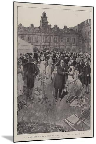 The Marquis of Salisbury's Garden Party at Hatfield-William Hatherell-Mounted Giclee Print