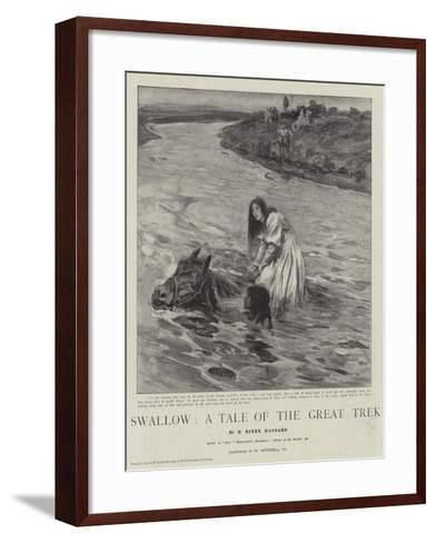 Swallow, a Tale of the Great Trek-William Hatherell-Framed Art Print