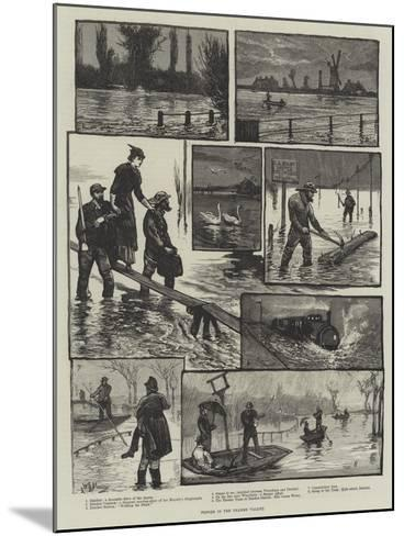Floods in the Thames Valley-William Bazett Murray-Mounted Giclee Print