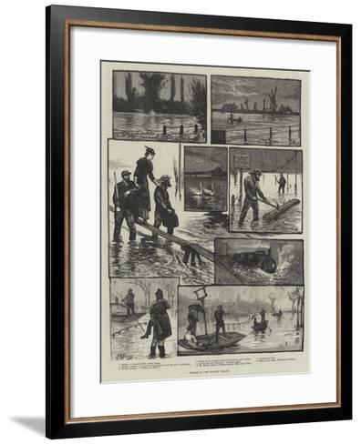 Floods in the Thames Valley-William Bazett Murray-Framed Art Print