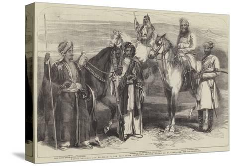 Native Officers and Soldiers in the East India Company's Service-William Carpenter-Stretched Canvas Print