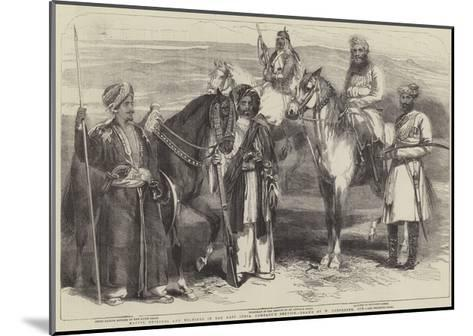Native Officers and Soldiers in the East India Company's Service-William Carpenter-Mounted Giclee Print