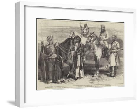 Native Officers and Soldiers in the East India Company's Service-William Carpenter-Framed Art Print