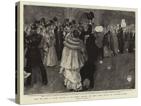 H R H the Prince of Wales's Reception at the Imperial Institute-William Hatherell-Stretched Canvas Print
