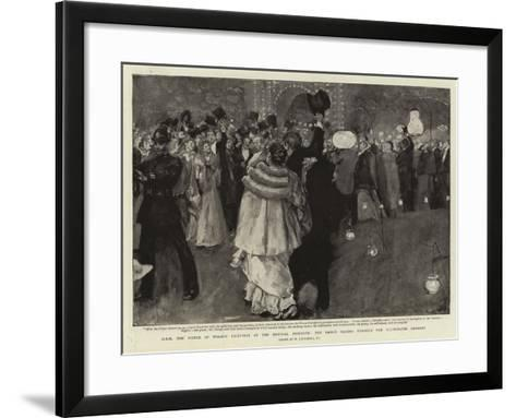 H R H the Prince of Wales's Reception at the Imperial Institute-William Hatherell-Framed Art Print