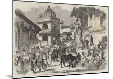 The Bazaar, Oodipoor, Rajpootana-William Carpenter-Mounted Giclee Print