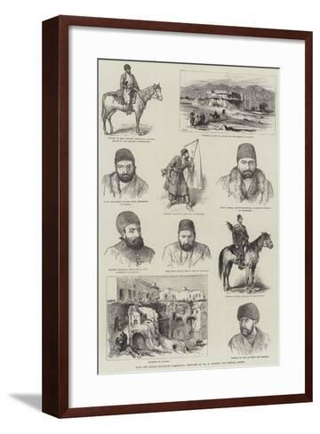 With the Afghan Boundary Commission-William 'Crimea' Simpson-Framed Art Print