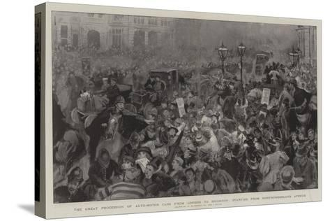 The Great Procession of Auto-Motor Cars from London to Brighton-William Hatherell-Stretched Canvas Print