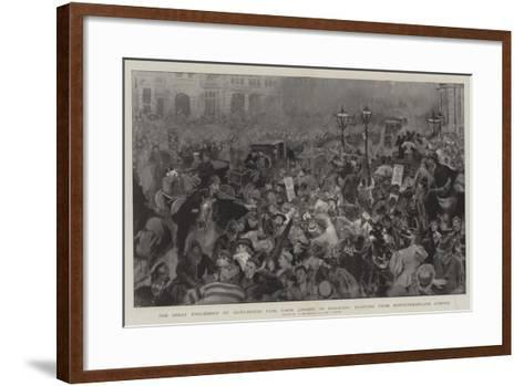 The Great Procession of Auto-Motor Cars from London to Brighton-William Hatherell-Framed Art Print
