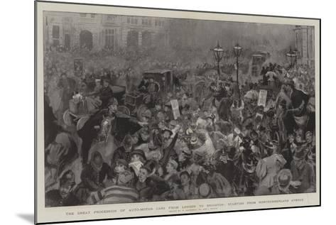 The Great Procession of Auto-Motor Cars from London to Brighton-William Hatherell-Mounted Giclee Print