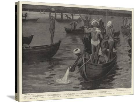 The Plague at Bombay-William Hatherell-Stretched Canvas Print