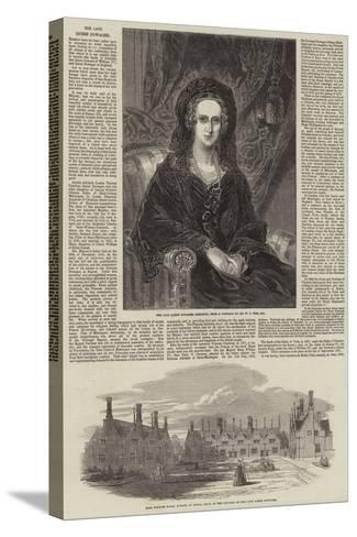 The Late Queen Dowager-William Charles Ross-Stretched Canvas Print