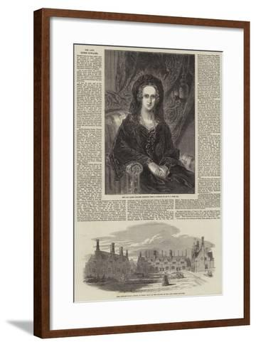 The Late Queen Dowager-William Charles Ross-Framed Art Print