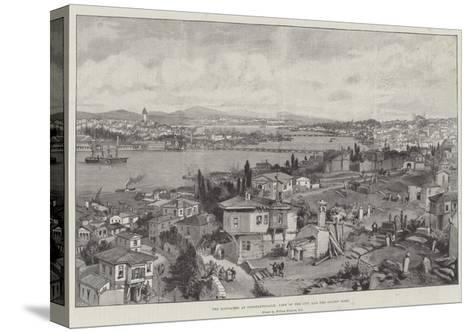 The Massacres at Constantinople, View of the City and the Golden Horn-William 'Crimea' Simpson-Stretched Canvas Print