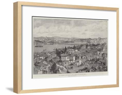 The Massacres at Constantinople, View of the City and the Golden Horn-William 'Crimea' Simpson-Framed Art Print