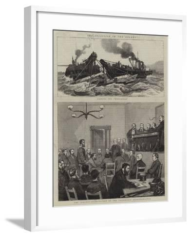The Collision in the Solent-William Edward Atkins-Framed Art Print