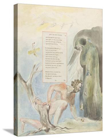 Ode on the Spring'-William Blake-Stretched Canvas Print