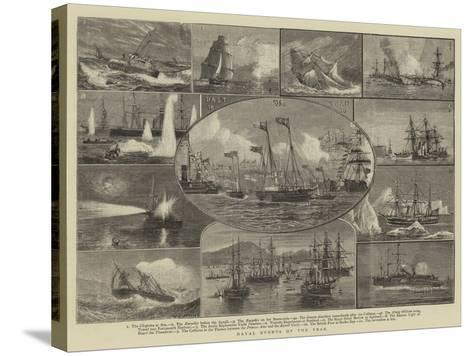 Naval Events of the Year-William Edward Atkins-Stretched Canvas Print
