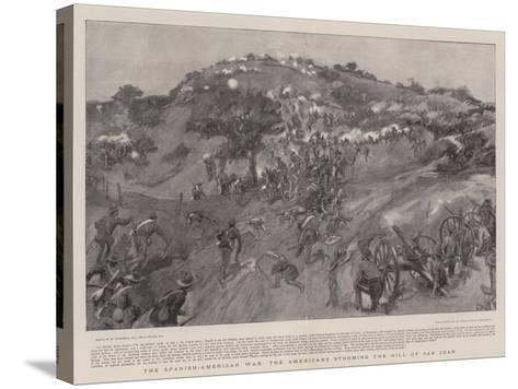 The Spanish-American War the Americans Storming the Hill of San Juan-William Hatherell-Stretched Canvas Print