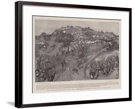 The Spanish-American War the Americans Storming the Hill of San Juan-William Hatherell-Framed Art Print