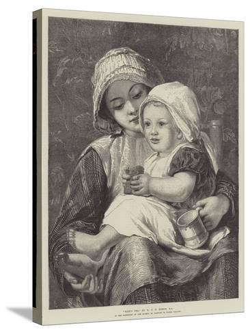 Baby's Tea-William Charles Thomas Dobson-Stretched Canvas Print