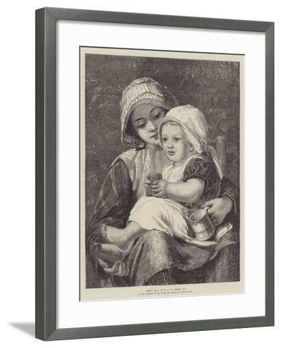 Baby's Tea-William Charles Thomas Dobson-Framed Art Print