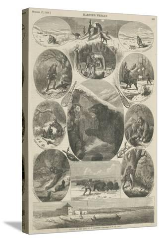 Scenes in the Life of a Trapper, from 'Harper's Weekly', 17th October 1868-William de la Montagne Cary-Stretched Canvas Print