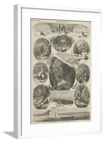 Scenes in the Life of a Trapper, from 'Harper's Weekly', 17th October 1868-William de la Montagne Cary-Framed Art Print