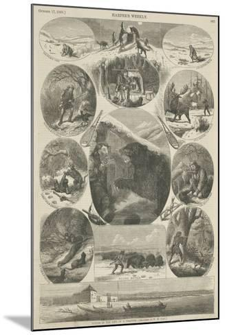Scenes in the Life of a Trapper, from 'Harper's Weekly', 17th October 1868-William de la Montagne Cary-Mounted Giclee Print