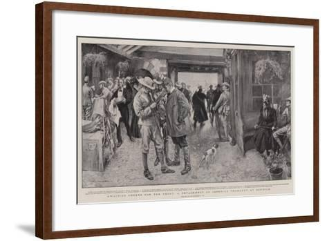Awaiting Orders for the Front, a Detachment of Imperial Yeomanry at Norwich-William Hatherell-Framed Art Print