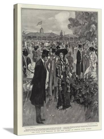 The First Race Meeting on the New Course at Phoenix Park, Dublin-William Hatherell-Stretched Canvas Print