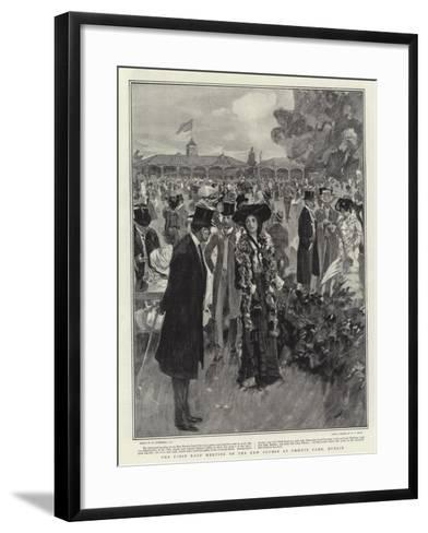 The First Race Meeting on the New Course at Phoenix Park, Dublin-William Hatherell-Framed Art Print