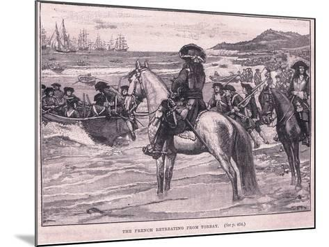 The French Retreating from Torbay Ad 1690-William Barnes Wollen-Mounted Giclee Print