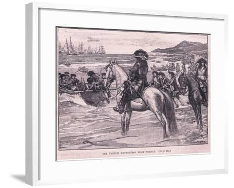The French Retreating from Torbay Ad 1690-William Barnes Wollen-Framed Art Print