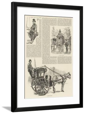 London Cabs and Cabmen-William Douglas Almond-Framed Art Print