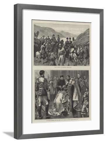 Royal Visit to Ireland-William Heysham Overend-Framed Art Print