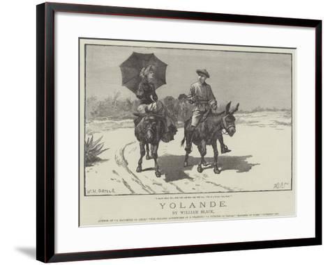 Yolande-William Heysham Overend-Framed Art Print